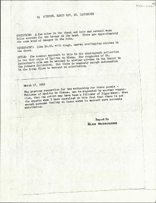 Image for K0041 - Alan Burroughs report, circa 1930s-1940s