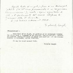 Image for K0425 - Expert opinion by Longhi, circa 1920s-1950s