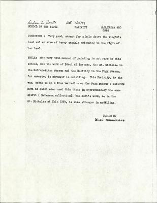 Image for K0420 - Alan Burroughs report, circa 1930s-1940s