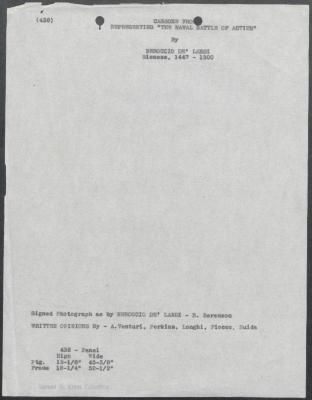 Image for K0438 - Art object record, circa 1930s-1950s