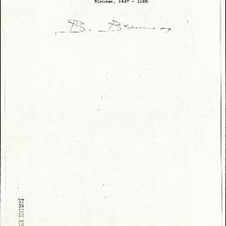 Image for K0438 - Expert opinion by Berenson, circa 1920s-1950s