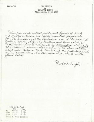 Image for K0441A - Expert opinion by Longhi, circa 1920s-1950s