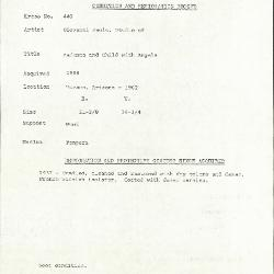 Image for K0440 - Condition and restoration record, circa 1950s-1960s