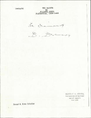 Image for K0441A - Expert opinion by Berenson, circa 1920s-1950s