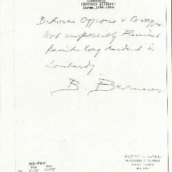Image for K0442 - Expert opinion by Berenson, circa 1920s-1950s