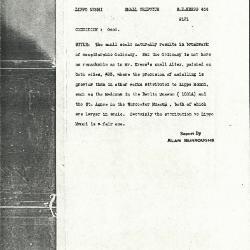 Image for K0444 - Alan Burroughs report, circa 1930s-1940s