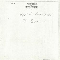 Image for K0447 - Expert opinion by Berenson, circa 1920s-1950s