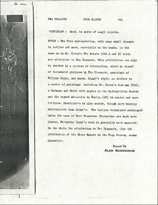 Image for K0441A - Alan Burroughs report, circa 1930s-1940s