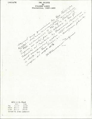 Image for K0441A - Expert opinion by Perkins, circa 1920s-1940s