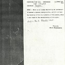 Image for K0445 - Alan Burroughs report, circa 1930s-1940s
