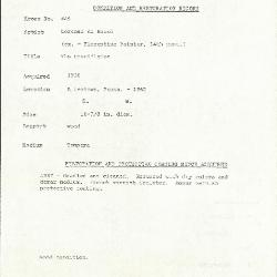 Image for K0445 - Condition and restoration record, circa 1950s-1960s