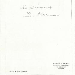Image for K0441C - Expert opinion by Berenson, circa 1920s-1950s
