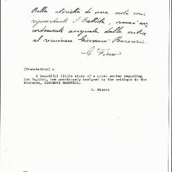 Image for K0460 - Expert opinion by Fiocco, circa 1930s-1940s