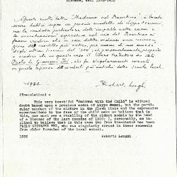 Image for K0459 - Expert opinion by Longhi, 1936