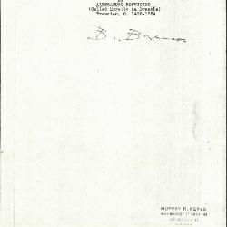 Image for K0458 - Expert opinion by Berenson, circa 1920s-1950s