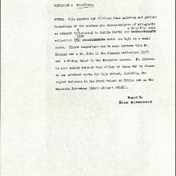 Image for K0463 - Alan Burroughs report, circa 1930s-1940s