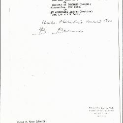 Image for K0463 - Expert opinion by Berenson, circa 1920s-1950s