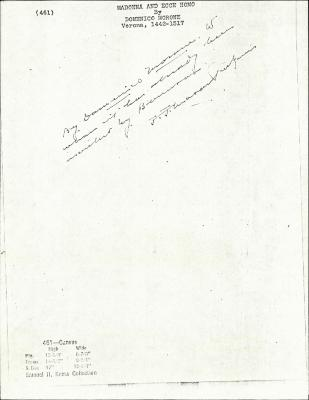 Image for K0461 - Expert opinion by Perkins, circa 1920s-1940s