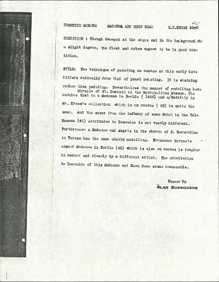 Image for K0461 - Alan Burroughs report, circa 1930s-1940s
