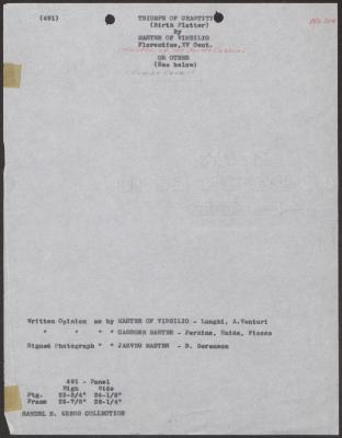 Image for K0491 - Art object record, circa 1930s-1950s