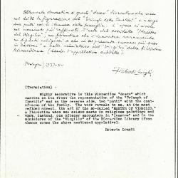 Image for K0491 - Expert opinion by Longhi, 1937