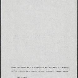 Image for K0490 - Art object record, circa 1930s-1950s