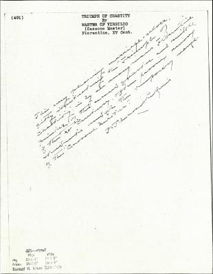 Image for K0491 - Expert opinion by Perkins, circa 1920s-1940s