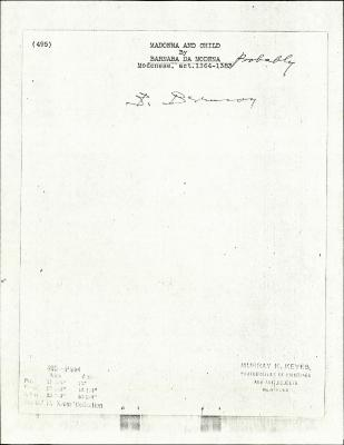 Image for K0495 - Expert opinion by Berenson, circa 1920s-1950s