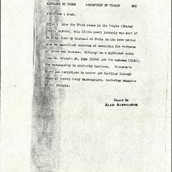 Image for K0500 - Alan Burroughs report, circa 1930s-1940s