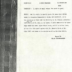 Image for K0499 - Alan Burroughs report, circa 1930s-1940s