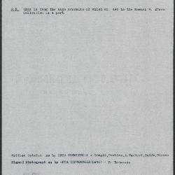 Image for K0499 - Art object record, circa 1930s-1950s