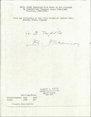 Image for K0005 - Expert opinion by Berenson, circa 1920s-1950s