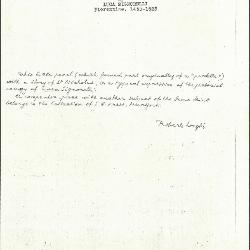 Image for K0499 - Expert opinion by Longhi, circa 1920s-1950s