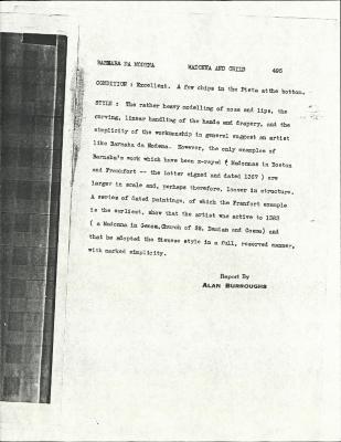 Image for K0495 - Alan Burroughs report, circa 1930s-1940s