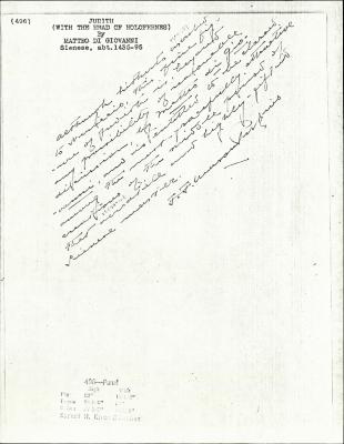Image for K0496 - Expert opinion by Perkins, circa 1920s-1940s