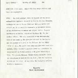 Image for K0518 - Alan Burroughs report, circa 1930s-1940s
