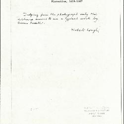 Image for K0515 - Expert opinion by Longhi, circa 1920s-1950s