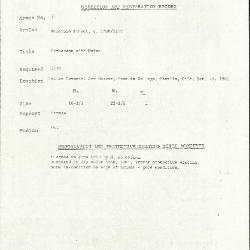 Image for K0051 - Condition and restoration record, circa 1950s-1960s