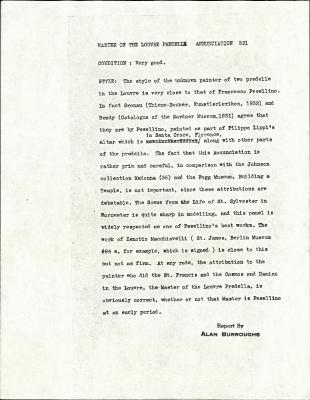 Image for K0521 - Alan Burroughs report, circa 1930s-1940s