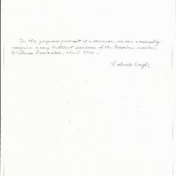 Image for K0524 - Expert opinion by Longhi, circa 1920s-1950s