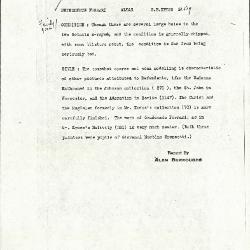 Image for K0519 - Alan Burroughs report, circa 1930s-1940s