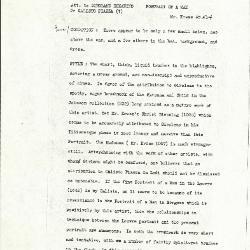Image for K0524 - Alan Burroughs report, circa 1930s-1940s