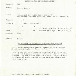 Image for K0522 - Condition and restoration record, circa 1950s-1960s