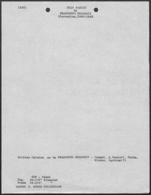Image for K0532 - Art object record, circa 1930s-1950s