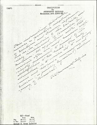 Image for K0527 - Expert opinion by Perkins, circa 1920s-1940s