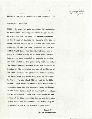 Image for K0528 - Alan Burroughs report, circa 1930s-1940s