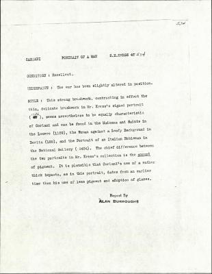 Image for K0534 - Alan Burroughs report, circa 1930s-1940s