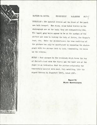 Image for K0527 - Alan Burroughs report, circa 1930s-1940s