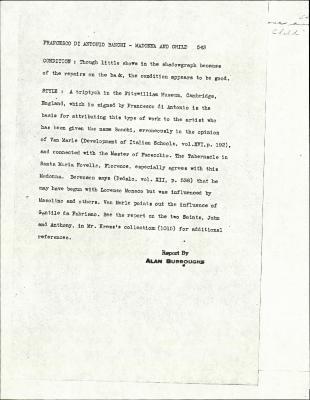 Image for K0543 - Alan Burroughs report, circa 1930s-1940s
