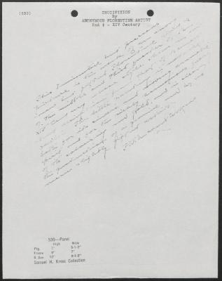 Image for K0539 - Expert opinion by Perkins, circa 1920s-1940s